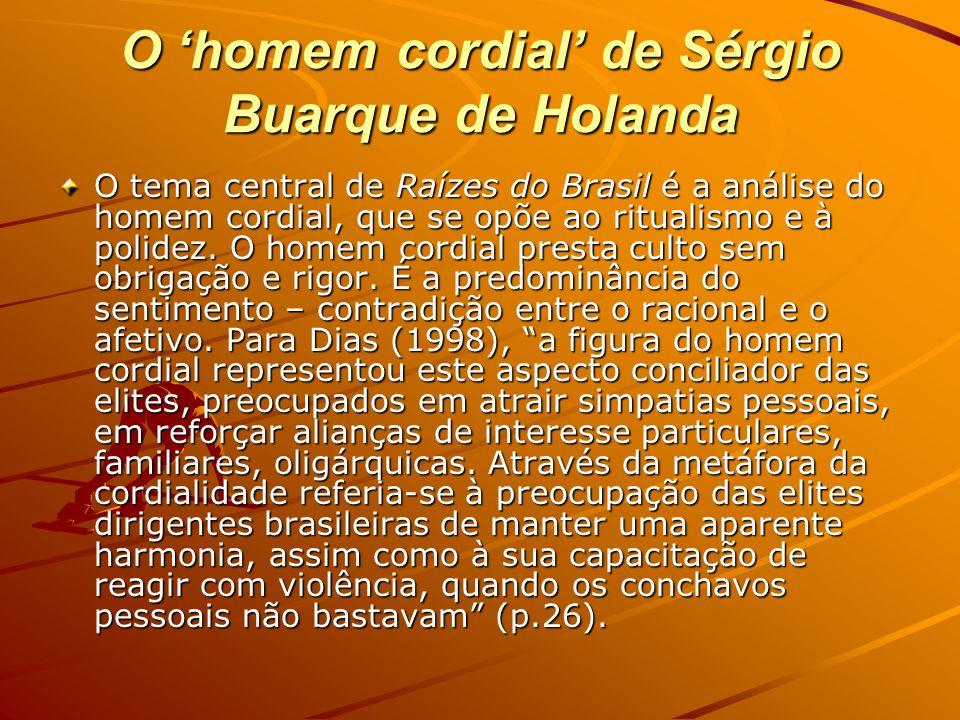 O 'homem cordial' de Sérgio Buarque de Holanda