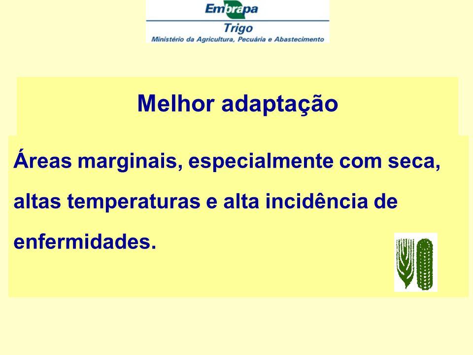 Melhor adaptação Áreas marginais, especialmente com seca, altas temperaturas e alta incidência de enfermidades.