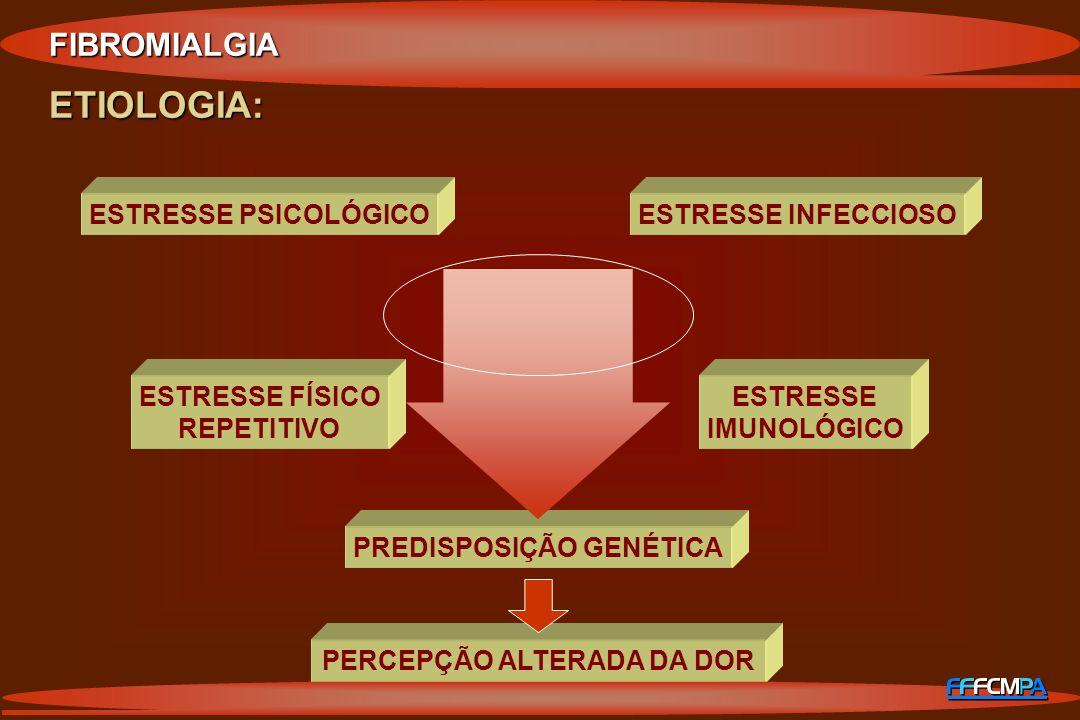 PREDISPOSIÇÃO GENÉTICA PERCEPÇÃO ALTERADA DA DOR