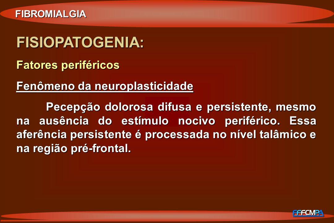 FISIOPATOGENIA: Fatores periféricos Fenômeno da neuroplasticidade