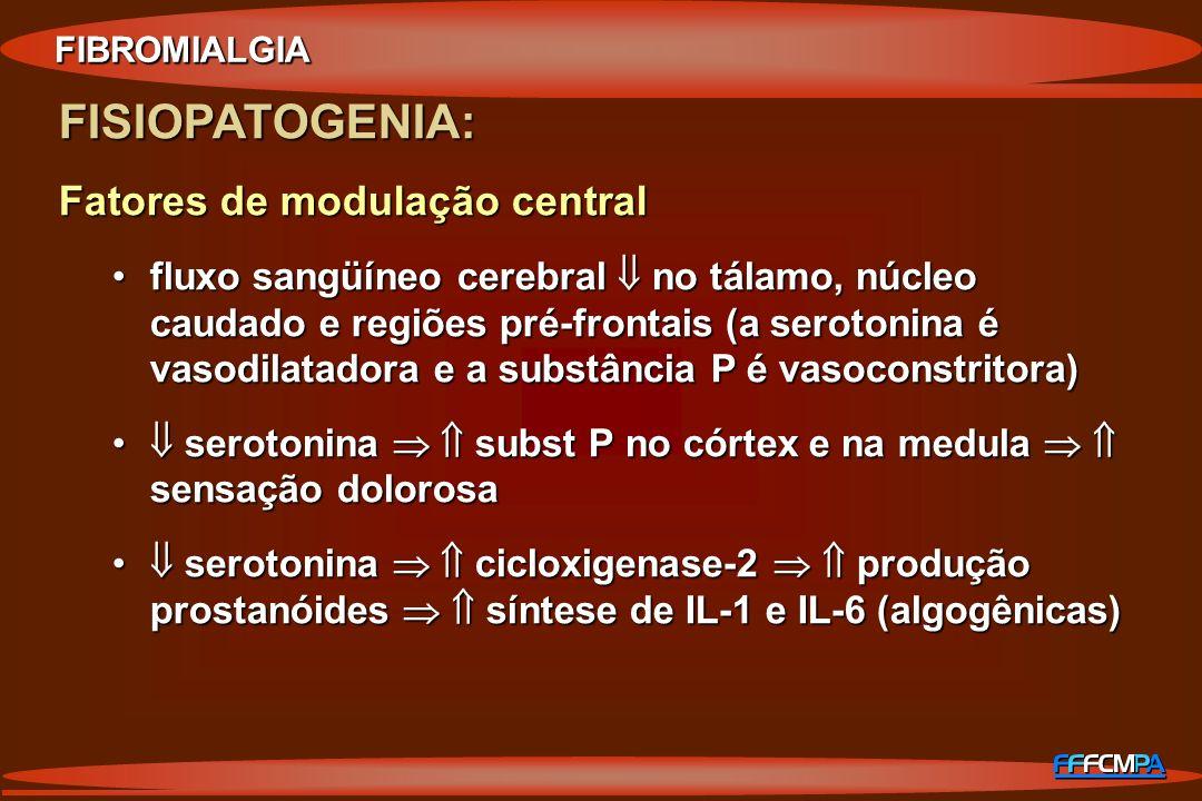 FISIOPATOGENIA: Fatores de modulação central