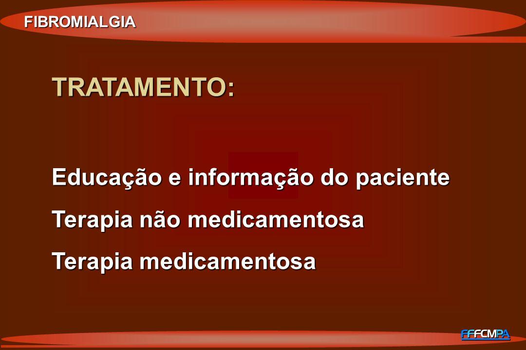 TRATAMENTO: Educação e informação do paciente