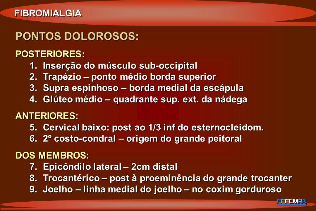 PONTOS DOLOROSOS: FIBROMIALGIA POSTERIORES: