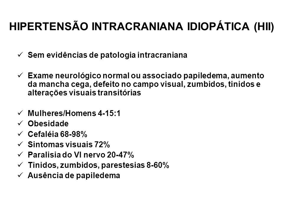 HIPERTENSÃO INTRACRANIANA IDIOPÁTICA (HII)