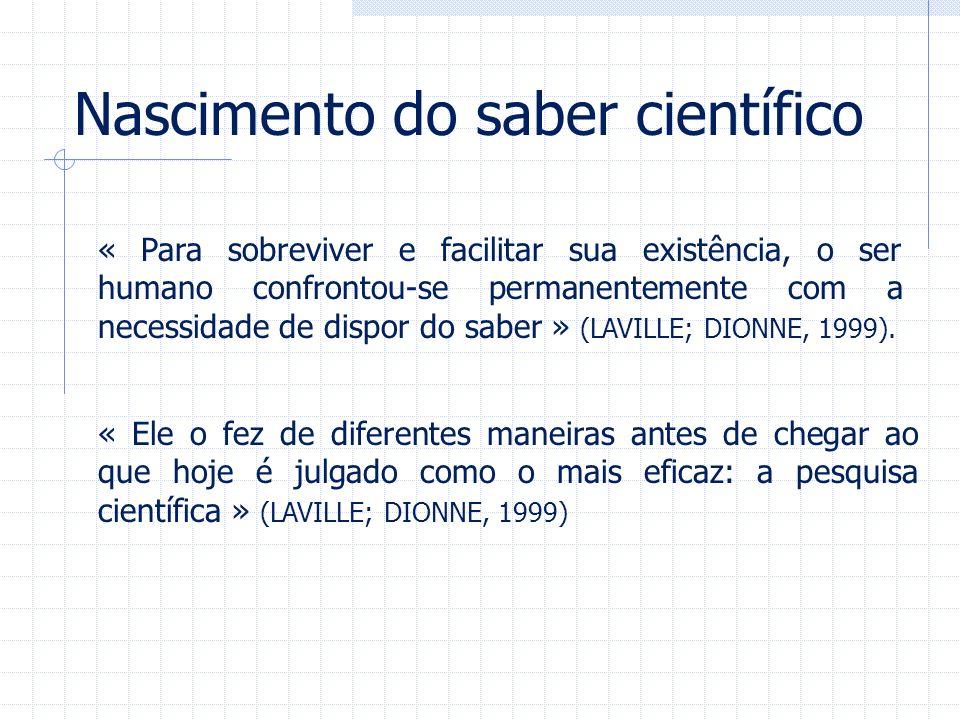 Nascimento do saber científico