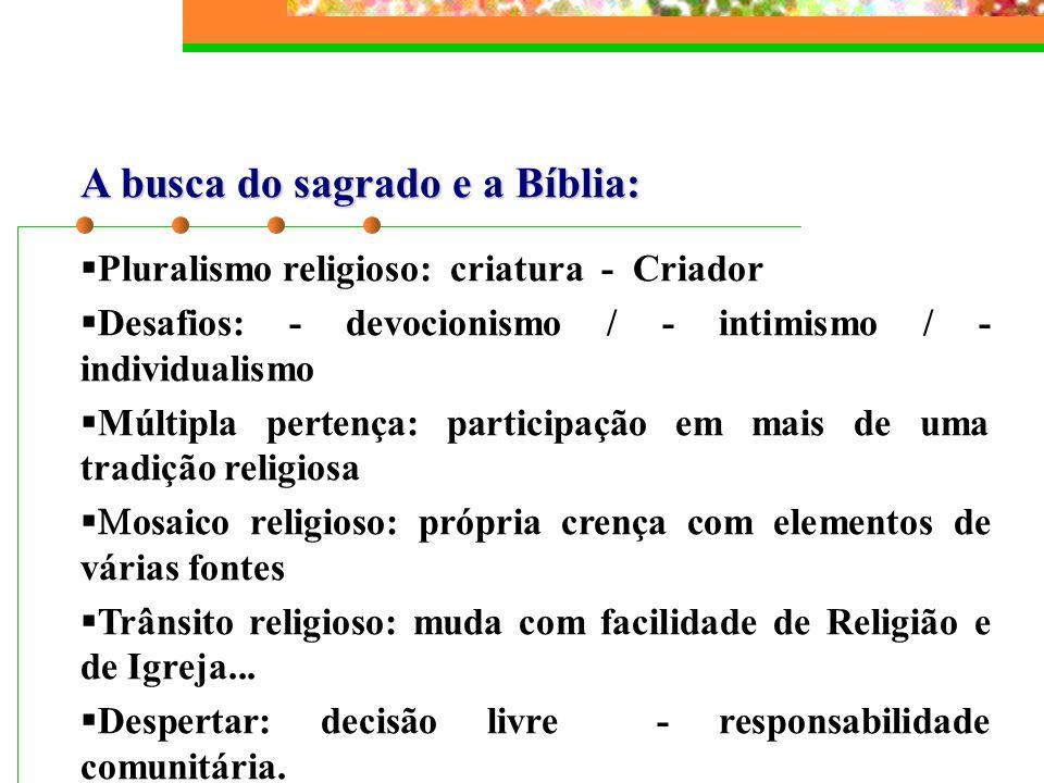 A busca do sagrado e a Bíblia: