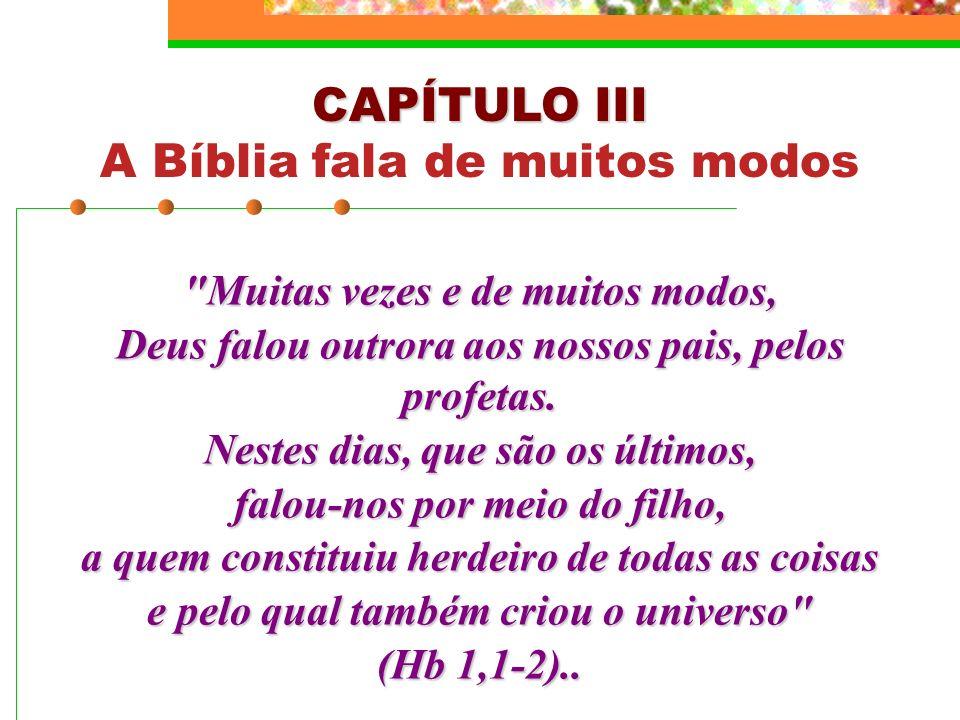 A Bíblia fala de muitos modos