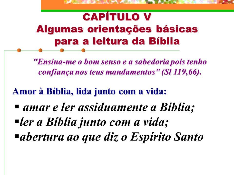 Algumas orientações básicas para a leitura da Bíblia