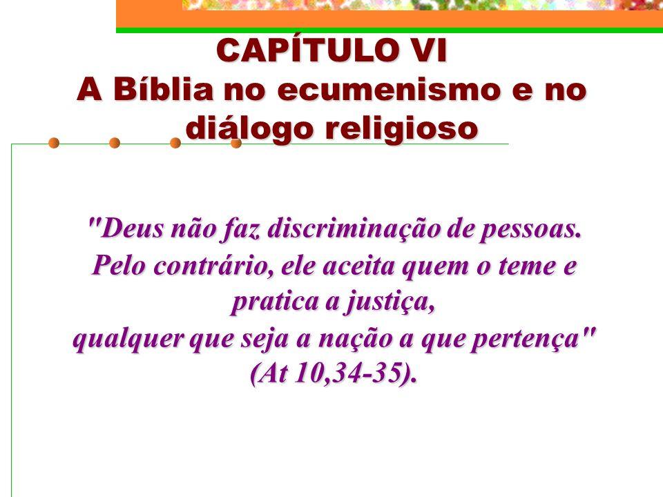 A Bíblia no ecumenismo e no diálogo religioso