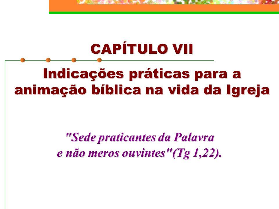 Indicações práticas para a animação bíblica na vida da Igreja