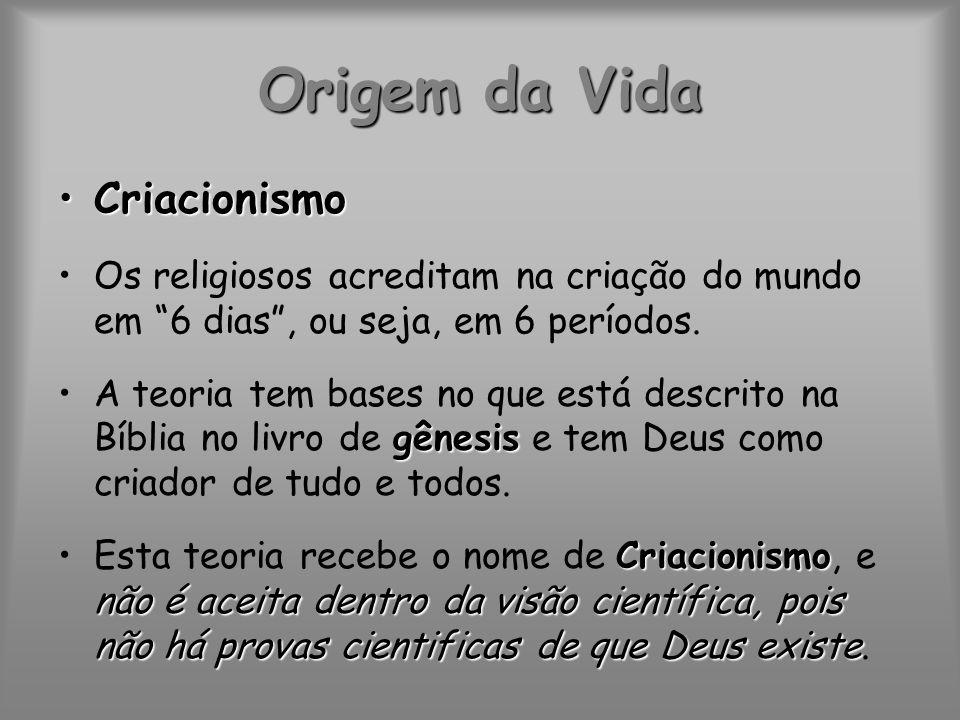 Origem da Vida Criacionismo