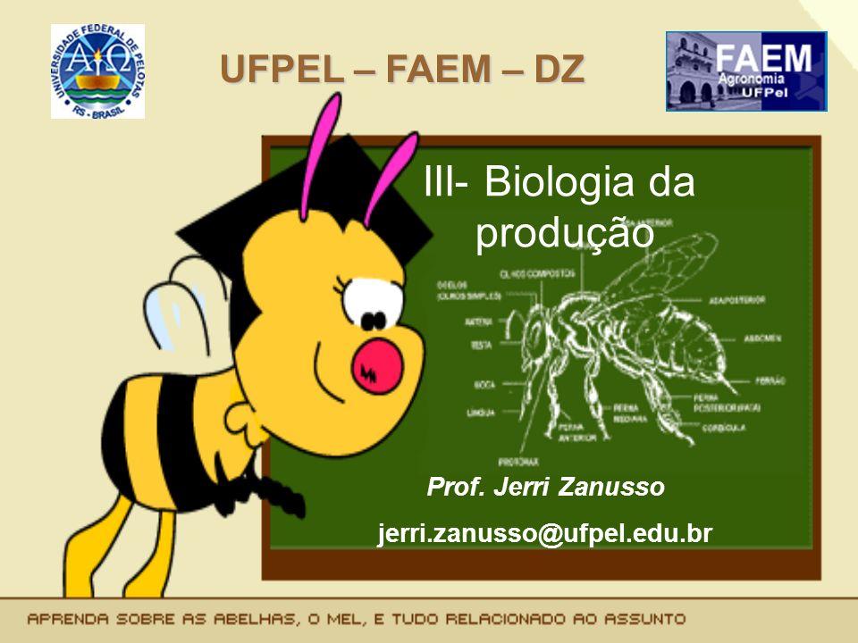 III- Biologia da produção