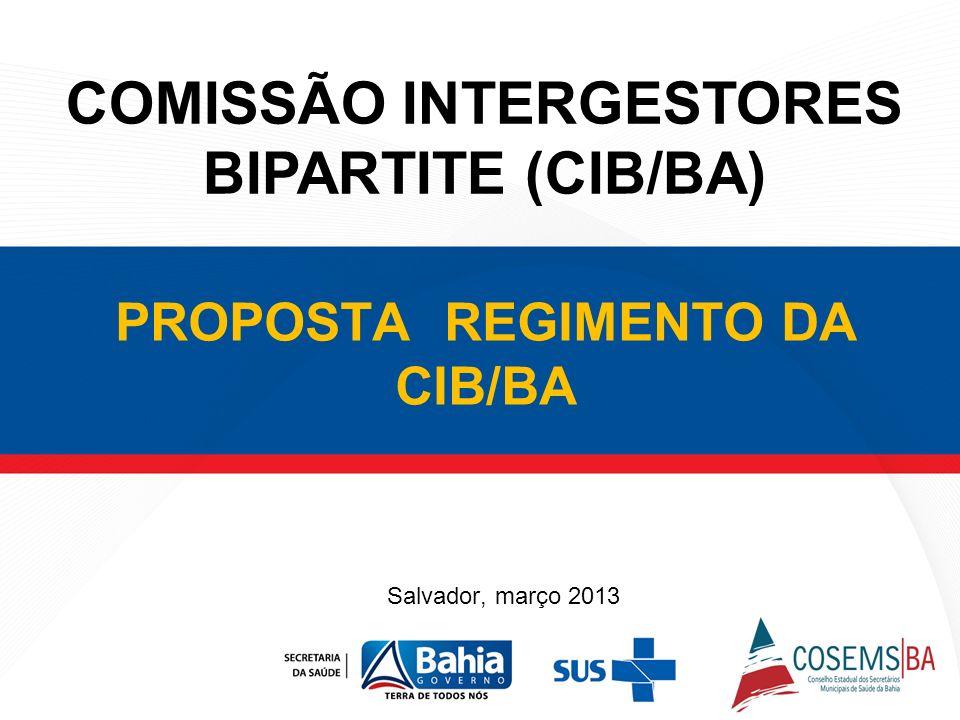PROPOSTA REGIMENTO DA CIB/BA