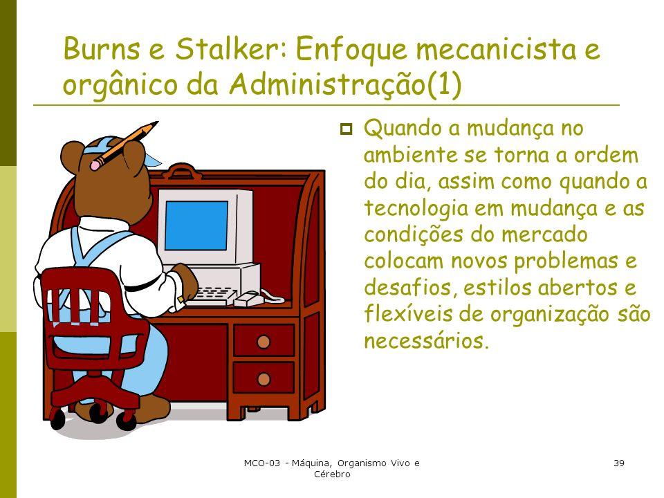 Burns e Stalker: Enfoque mecanicista e orgânico da Administração(1)
