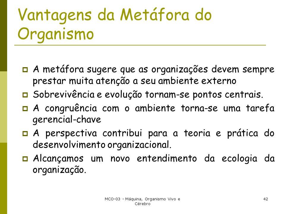 Vantagens da Metáfora do Organismo