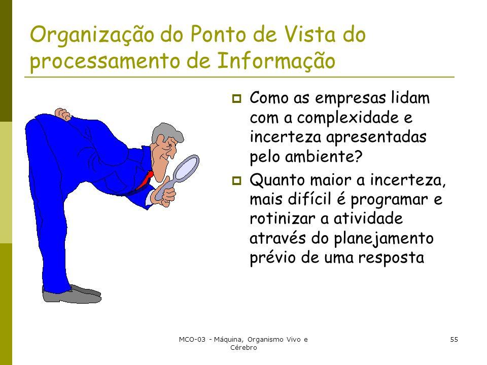 Organização do Ponto de Vista do processamento de Informação