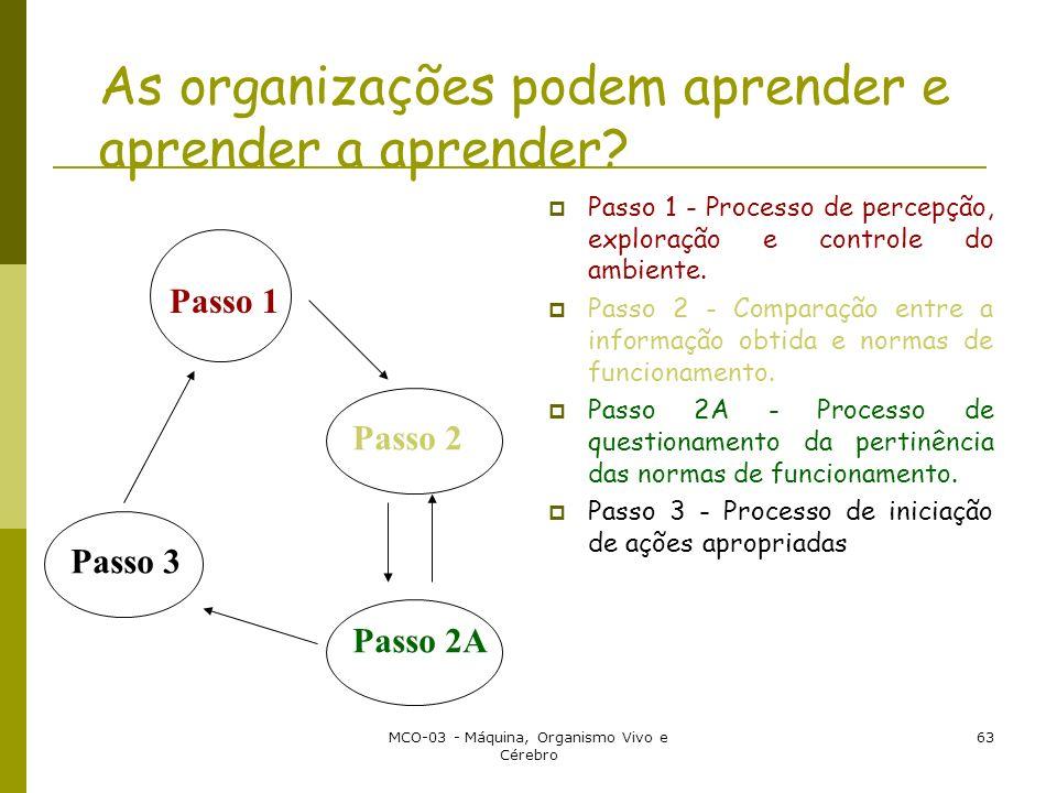As organizações podem aprender e aprender a aprender