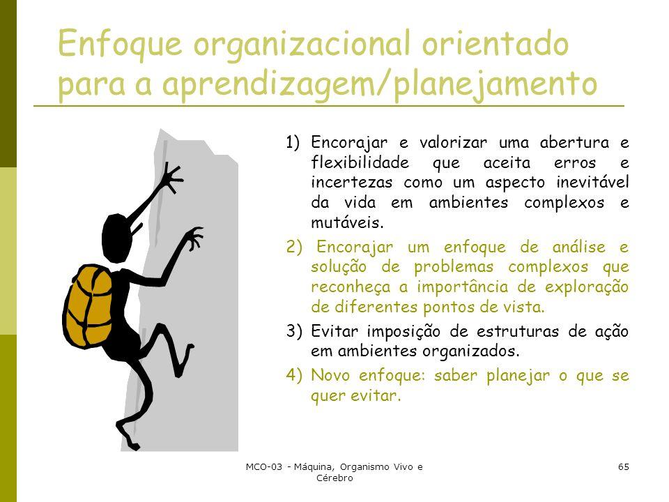 Enfoque organizacional orientado para a aprendizagem/planejamento
