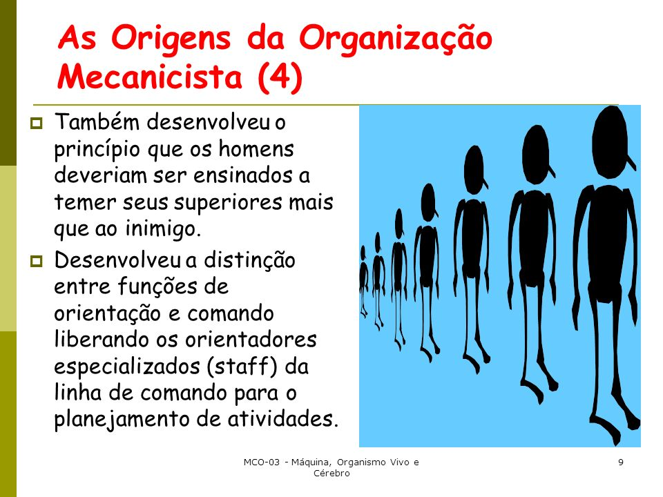 As Origens da Organização Mecanicista (4)