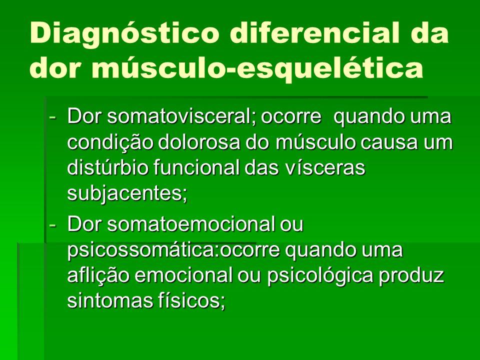 Diagnóstico diferencial da dor músculo-esquelética