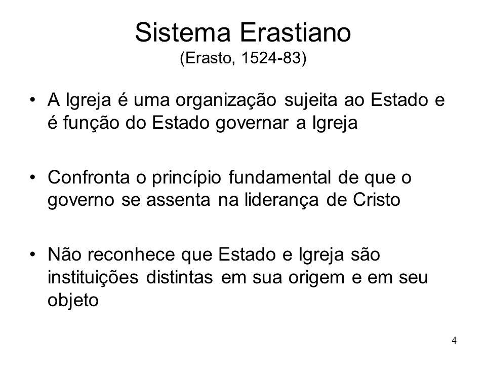 Sistema Erastiano (Erasto, 1524-83)
