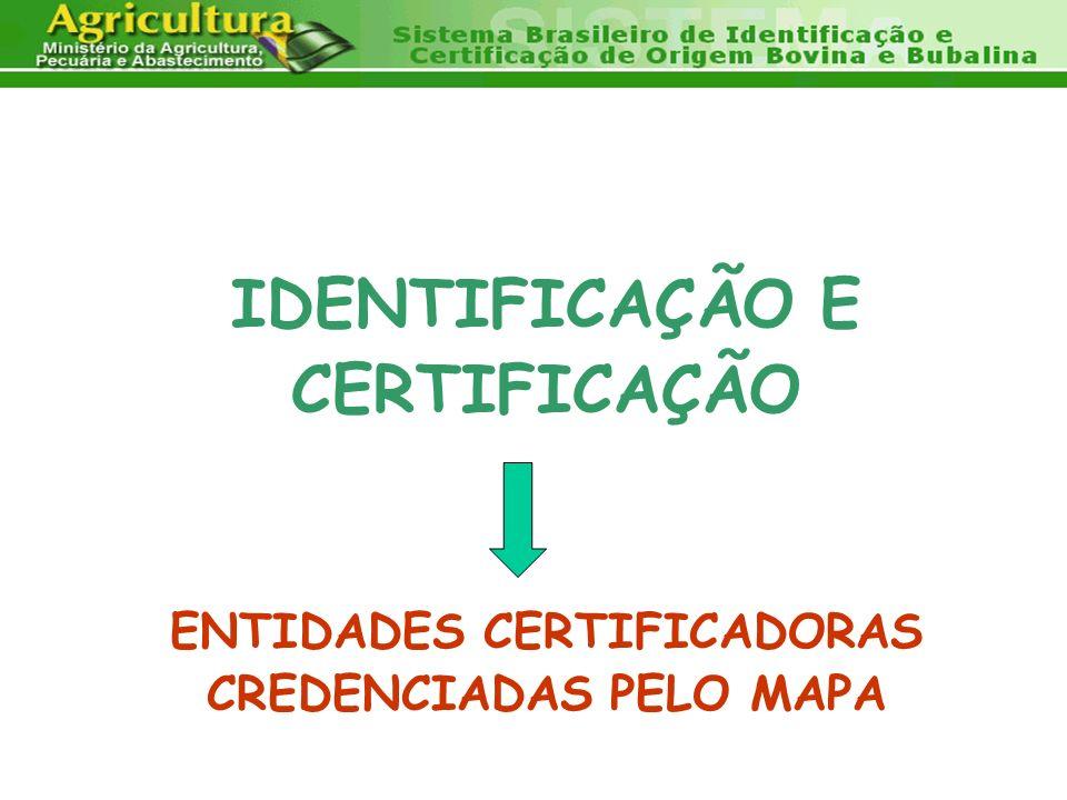 ENTIDADES CERTIFICADORAS CREDENCIADAS PELO MAPA