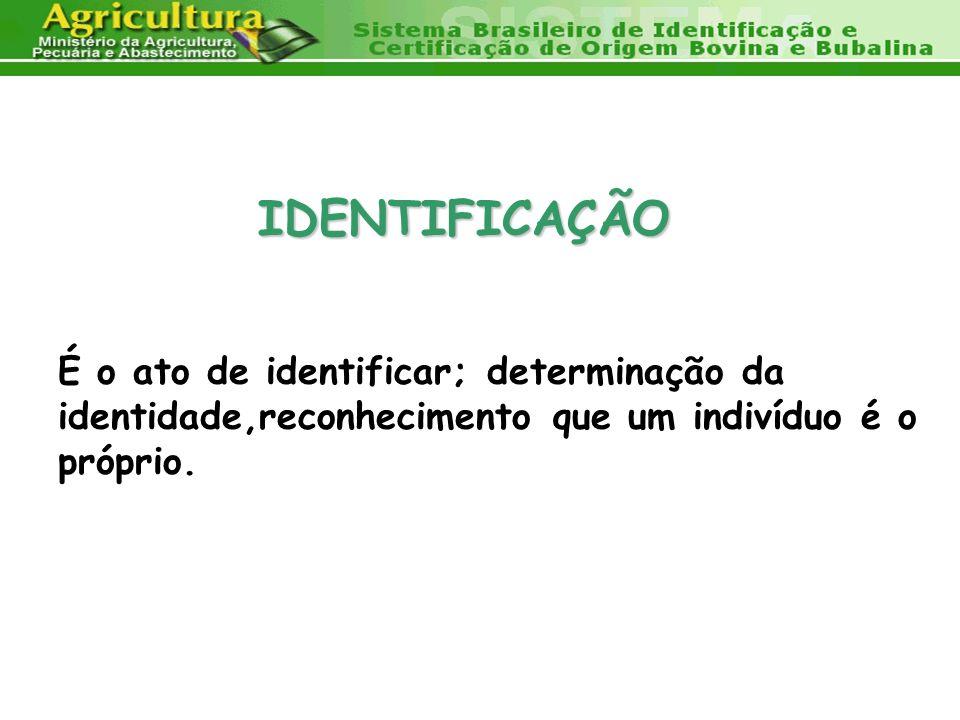 IDENTIFICAÇÃO É o ato de identificar; determinação da identidade,reconhecimento que um indivíduo é o próprio.