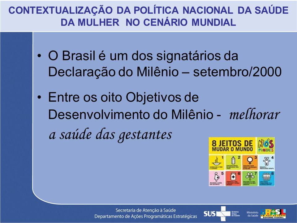 O Brasil é um dos signatários da Declaração do Milênio – setembro/2000