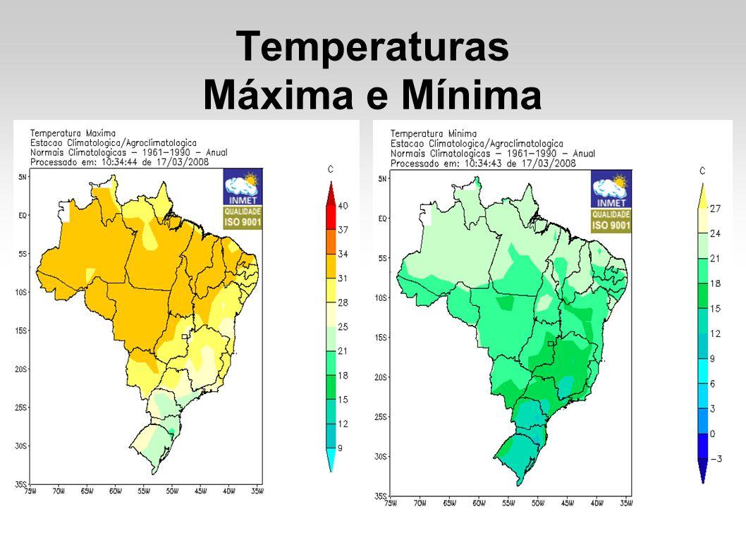 Temperaturas Máxima e Mínima
