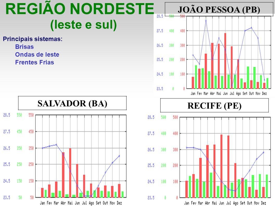 REGIÃO NORDESTE (leste e sul) JOÃO PESSOA (PB) SALVADOR (BA)