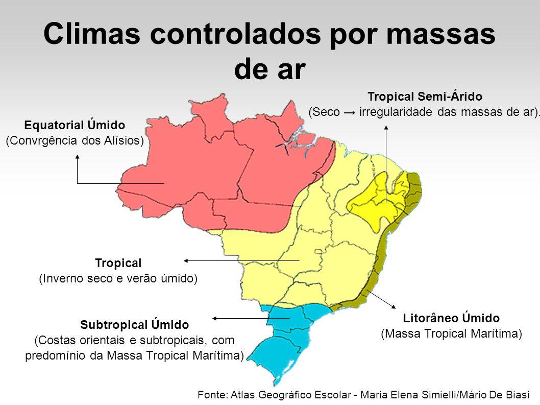 Climas controlados por massas de ar