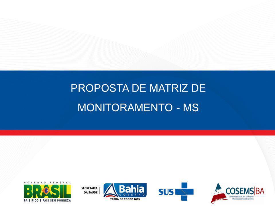 PROPOSTA DE MATRIZ DE MONITORAMENTO - MS