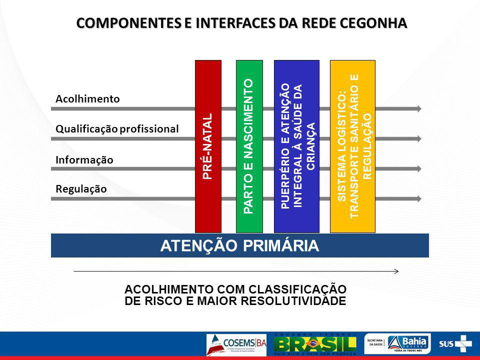 COMPONENTES E INTERFACES DA REDE CEGONHA