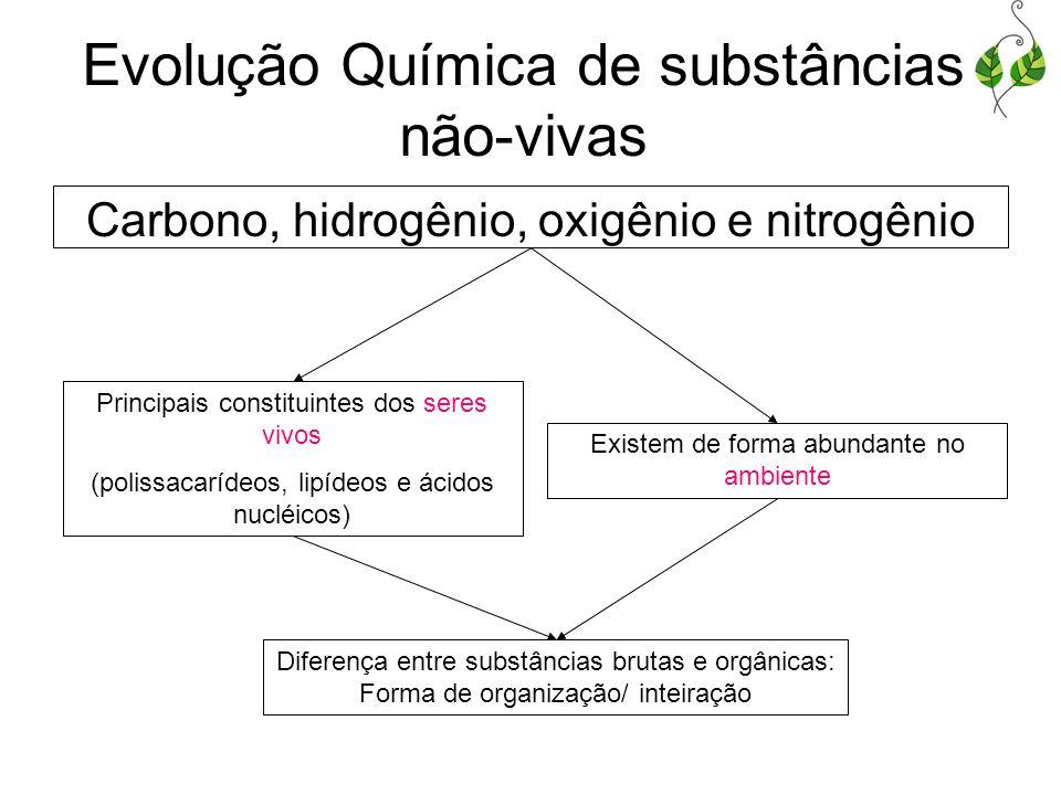 Evolução Química de substâncias não-vivas