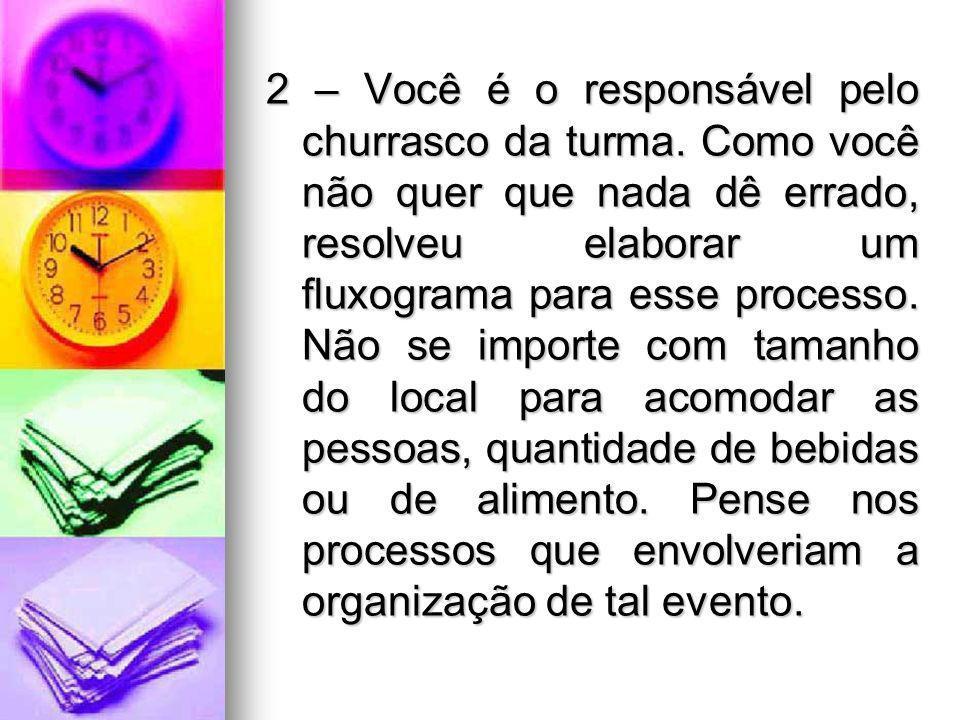 2 – Você é o responsável pelo churrasco da turma