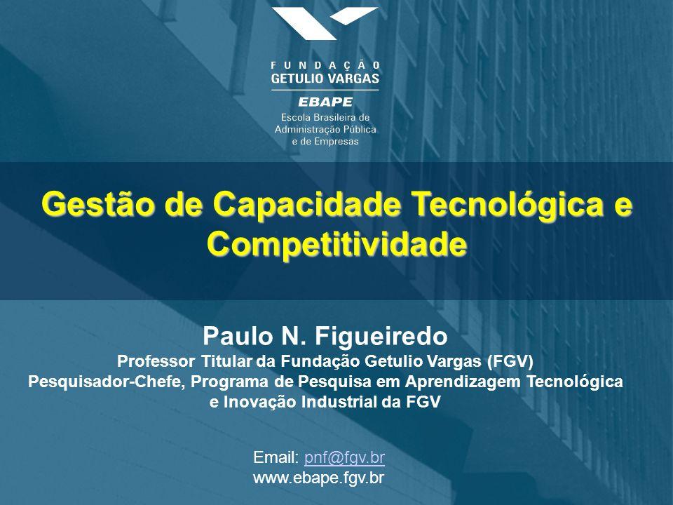 Gestão de Capacidade Tecnológica e Competitividade