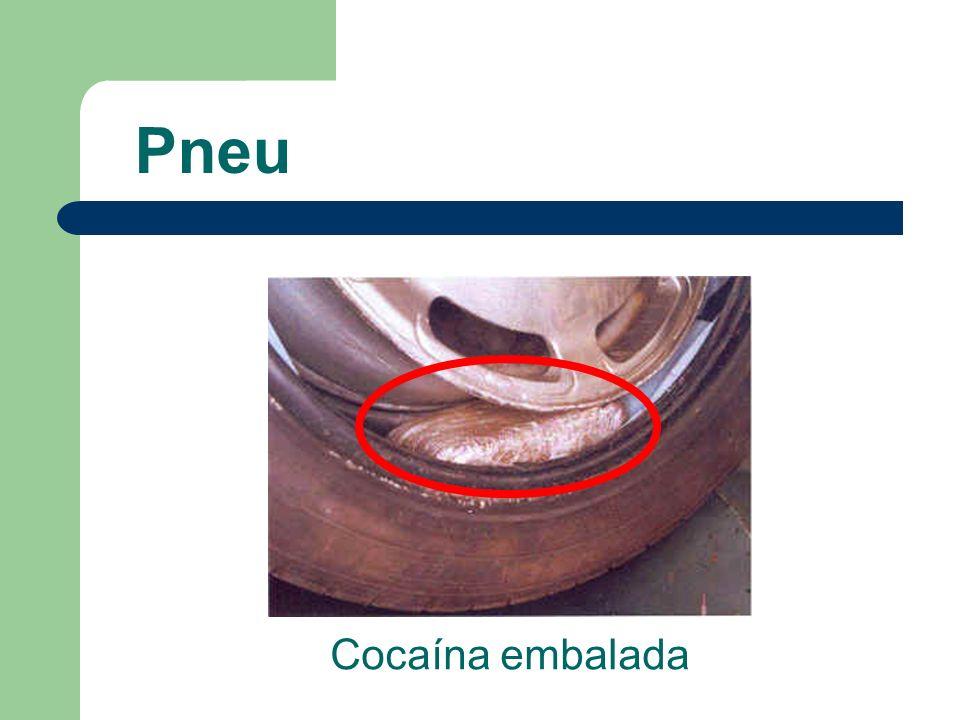 Pneu Cocaína embalada