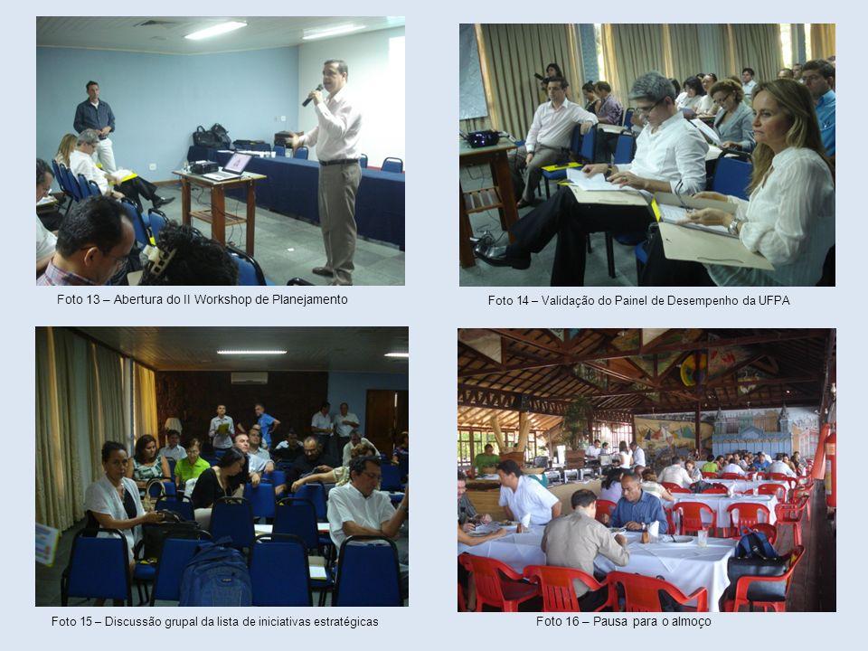 Foto 13 – Abertura do II Workshop de Planejamento