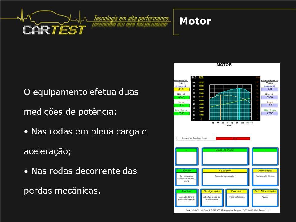Motor O equipamento efetua duas medições de potência:
