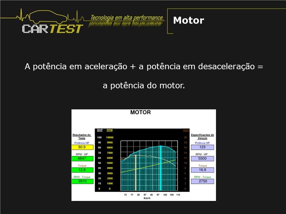 A potência em aceleração + a potência em desaceleração =