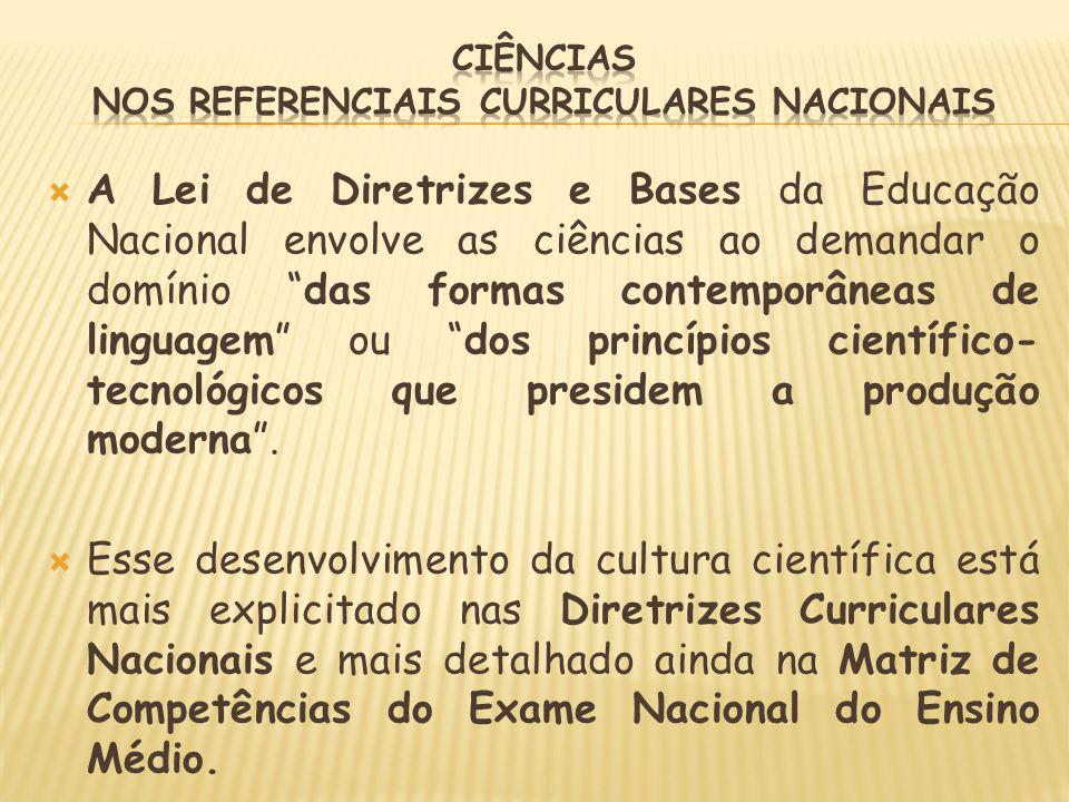Ciências nos Referenciais Curriculares Nacionais
