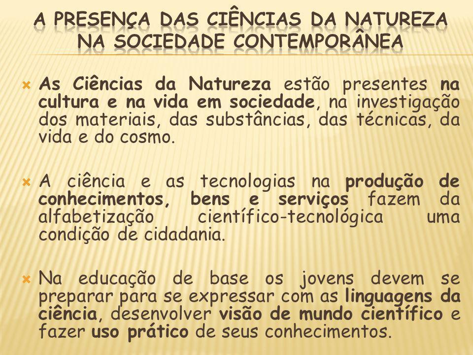 A presença das Ciências da Natureza na sociedade contemporânea