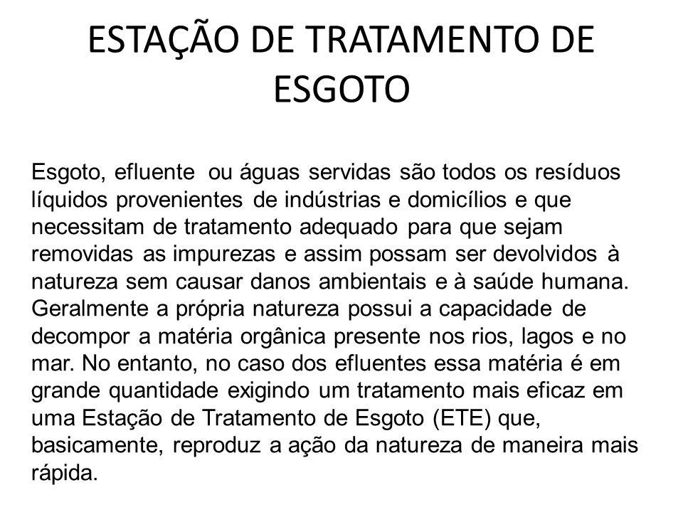 ESTAÇÃO DE TRATAMENTO DE ESGOTO