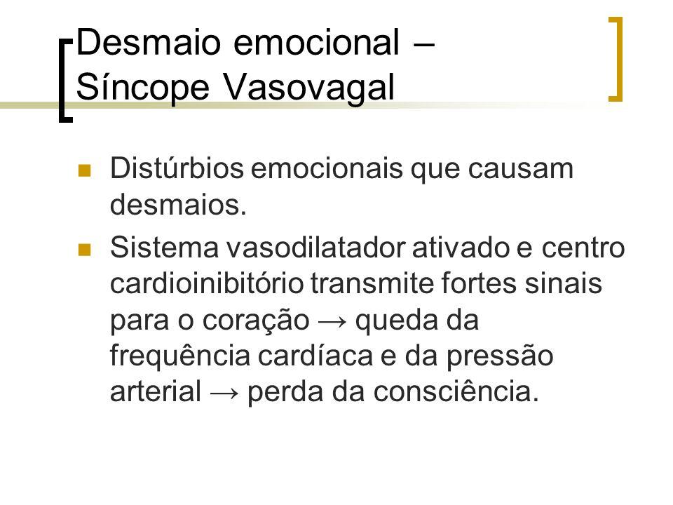 Desmaio emocional – Síncope Vasovagal