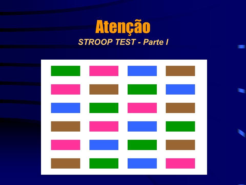 Atenção STROOP TEST - Parte I