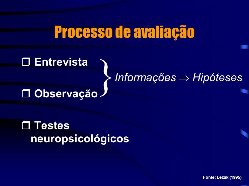 } Processo de avaliação Entrevista Observação Informações  Hipóteses