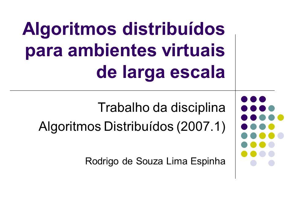 Algoritmos distribuídos para ambientes virtuais de larga escala