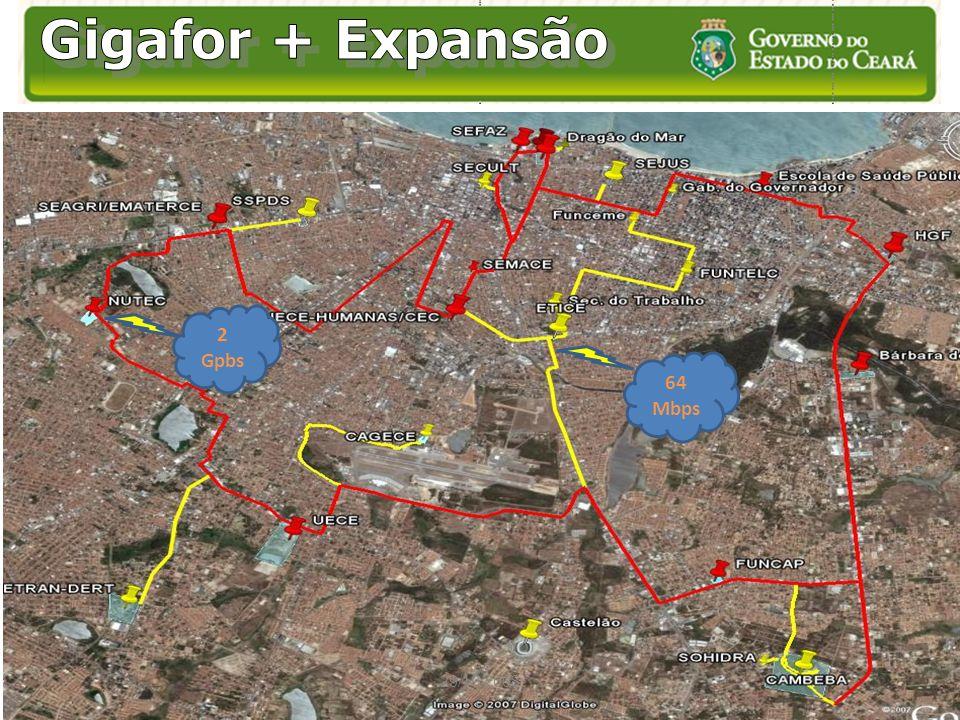 Gigafor + Expansão 2 Gpbs 64 Mbps 29/10/2008
