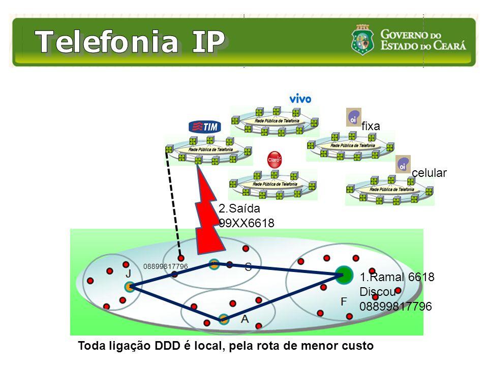Toda ligação DDD é local, pela rota de menor custo