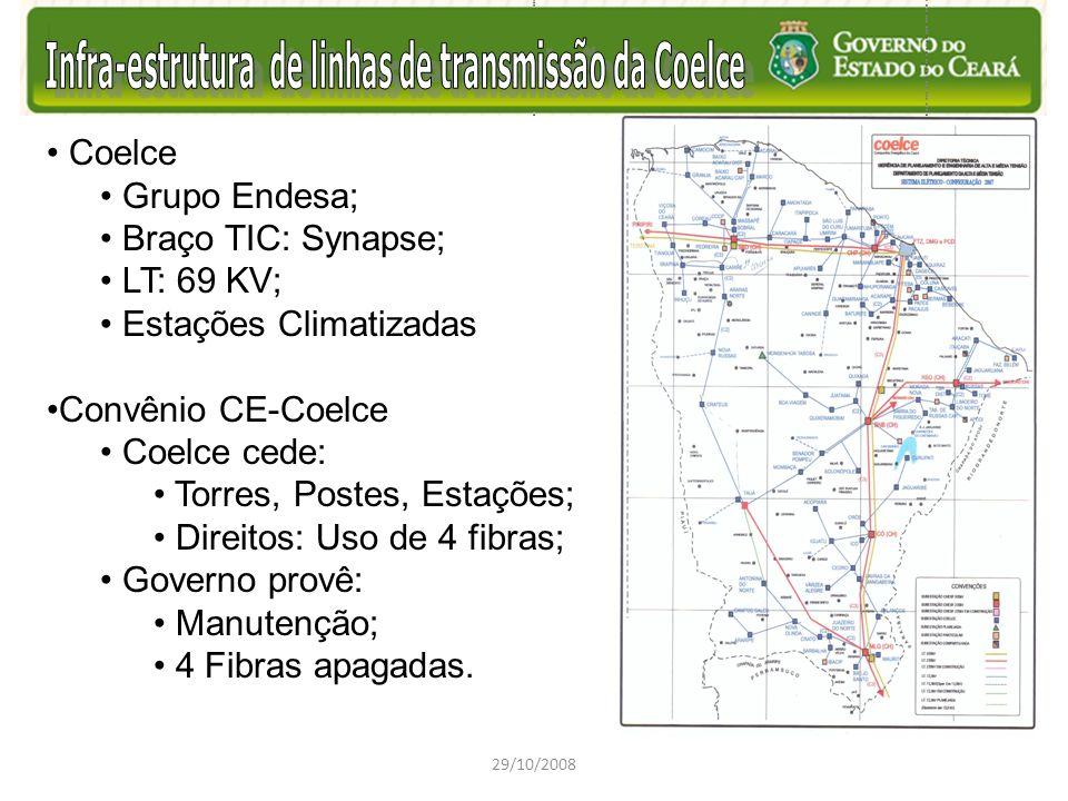 Estações Climatizadas Convênio CE-Coelce Coelce cede: